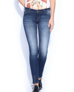 HRX Women Blue Indigo Dyed Skinny Fit Jeans