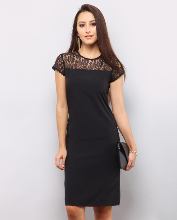 Trina Lace Dress – Black