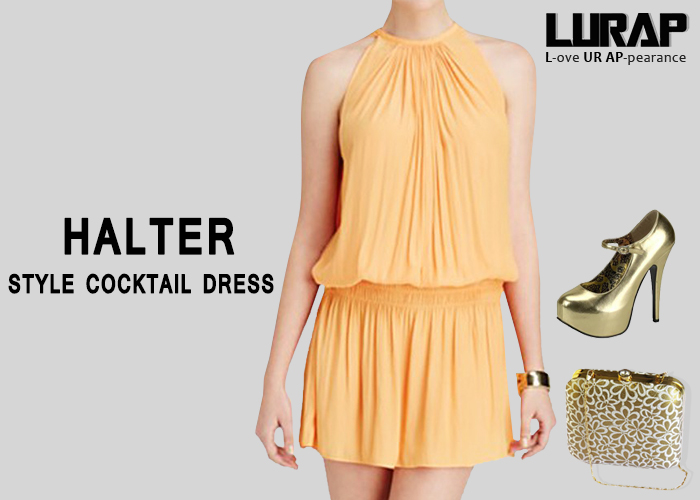 Halter Style Cocktail Dress lurap
