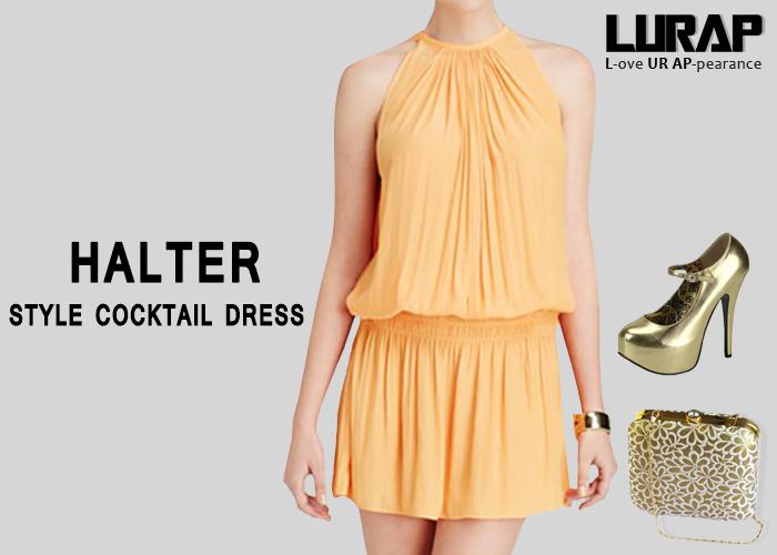 Halter Style Cocktail Dress lurap