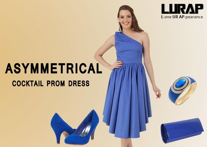 asymmetrical cocktail prom Dress lurap
