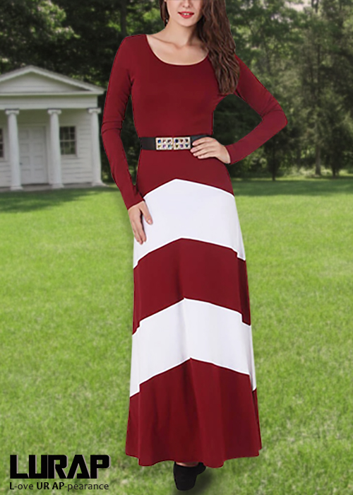custom sunny color block maxi dress