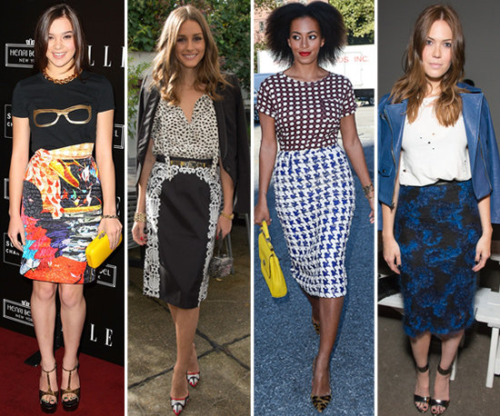 printed plus size pencil skirts