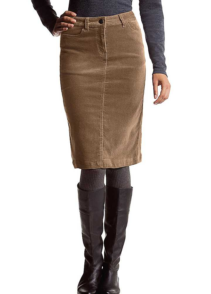 corduroy Plus size pencil skirt