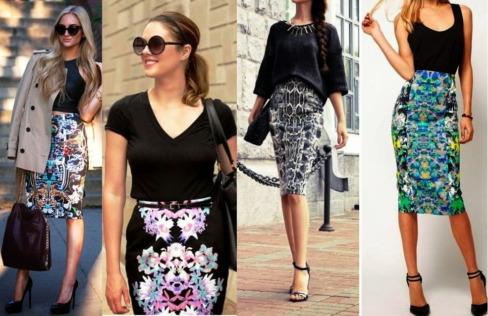 Plus size Pencil skirt with Classic Blouse