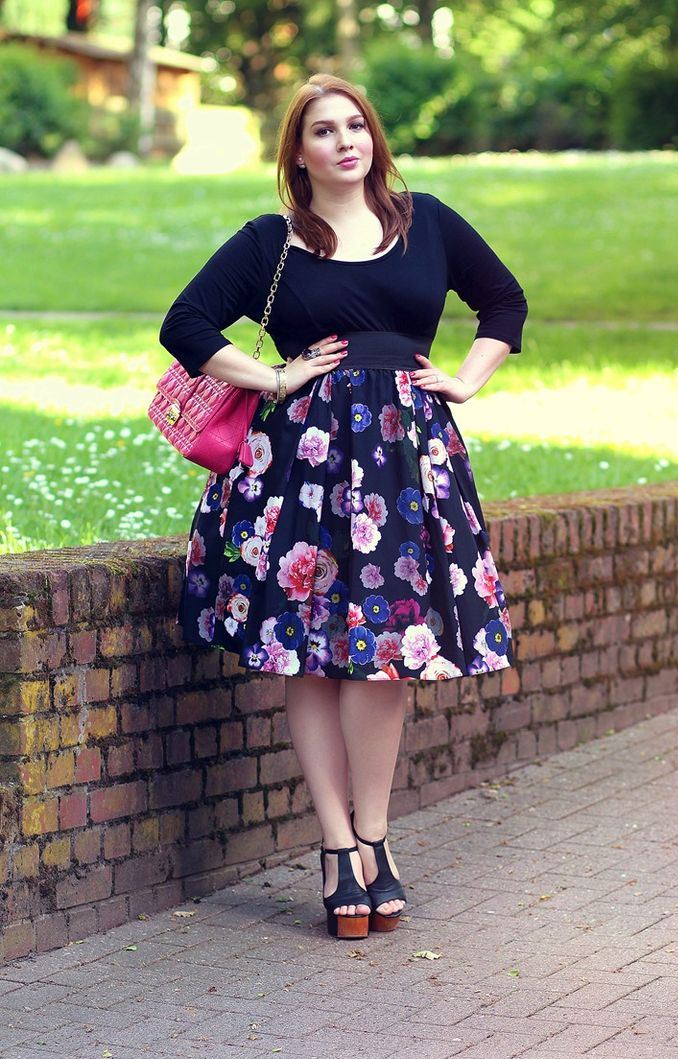 High Waist floral Skirts for plus size women