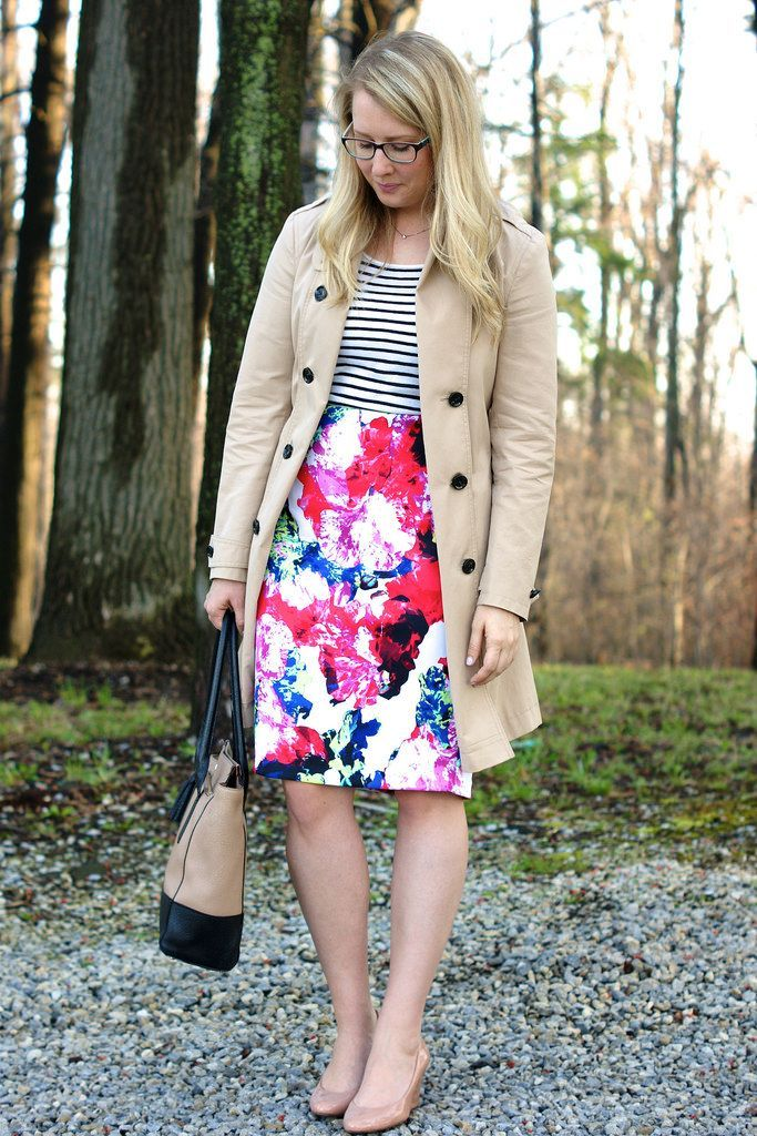 plus size floral Skirts with Appropriate Colors