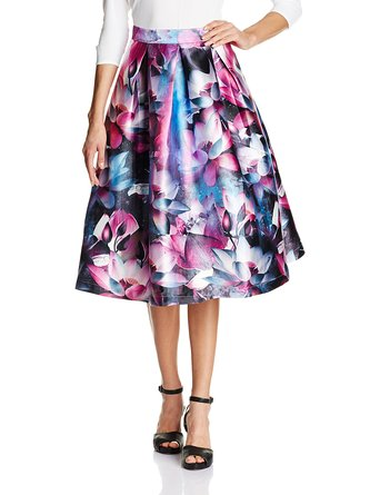 plus size floral Skirts with Right Print