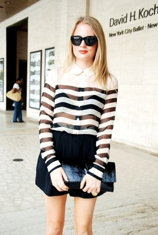 The layered look sheer Top