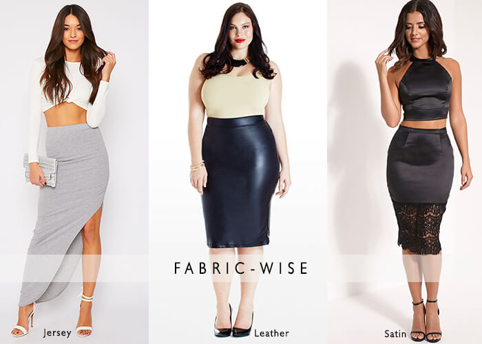 Fabric wise plus size pencil skirts