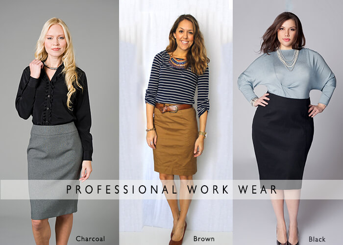 office wear plus size pencil skirts