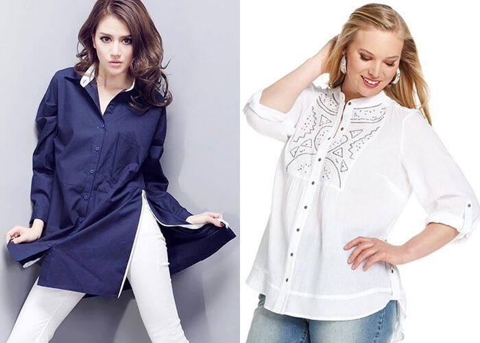 plus size length tops