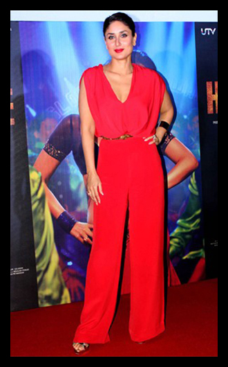 kareena kapoor khan in red jumpsuit