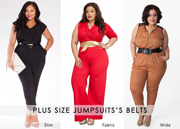 Belted Plus size Jumpsuits