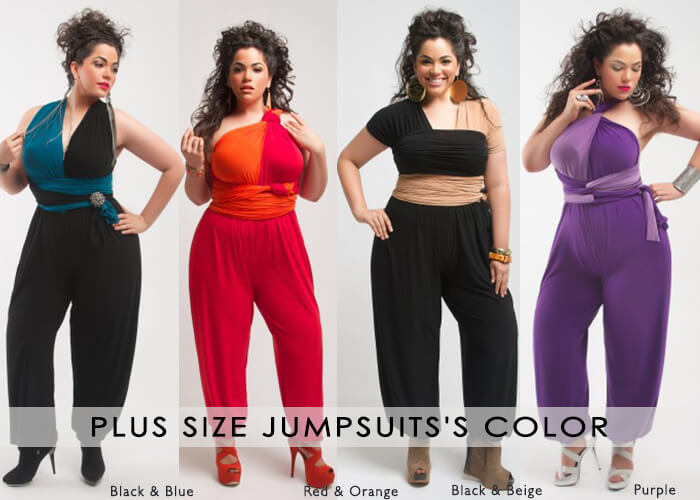 Plus size Jumpsuits's Color black,white,red,beige