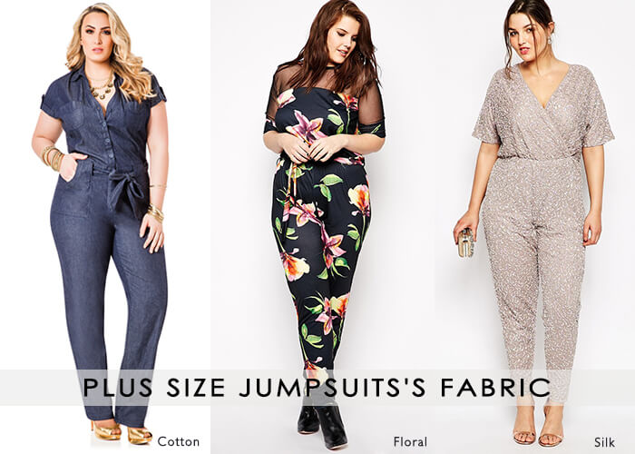 Plus size Jumpsuits's Fabric cotton,silk,floral,Crepe