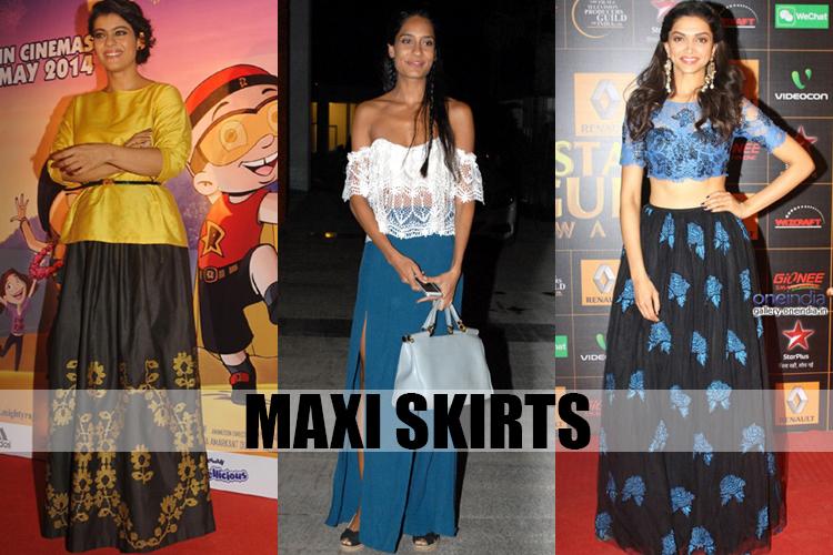 women maxi skirts online