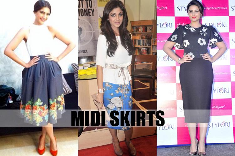 women midi skirts online
