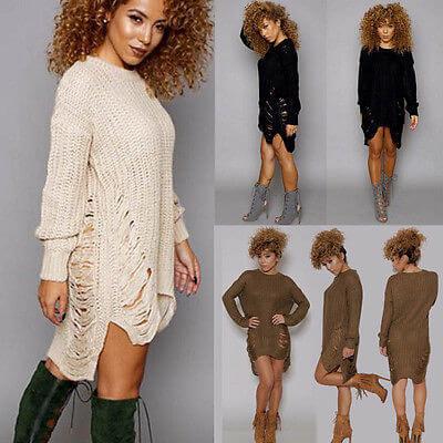 c) Sweater Dress