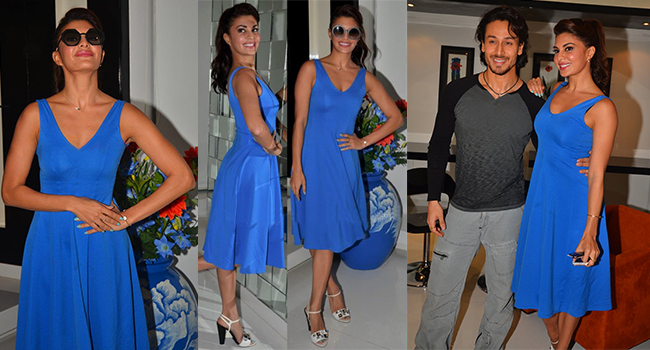 Flying Jatt Jacqueline Fernandez Blue Fit & Flare Dress