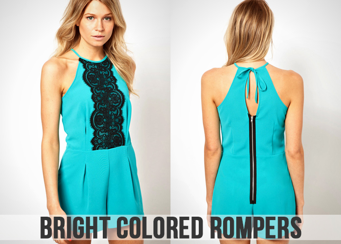 Bright colored Rompers For Women