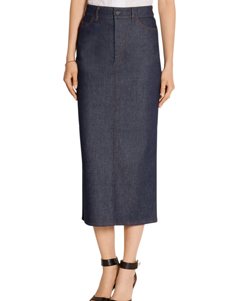 Denim Midi Skirts for Women
