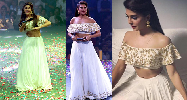 Flying Jatt Jacqueline Fernandez Long Maxi Skirt with Crop Top