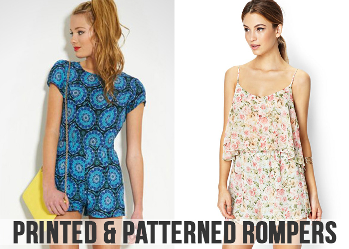 Print patterned Rompers For Women