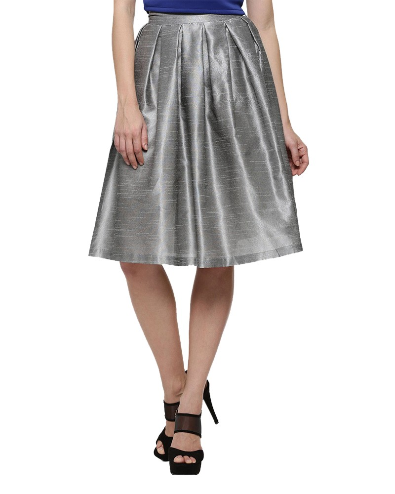 Silver Line Pleated Skirts for Women