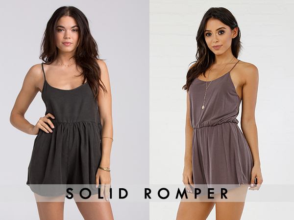 Solid color Romper For women