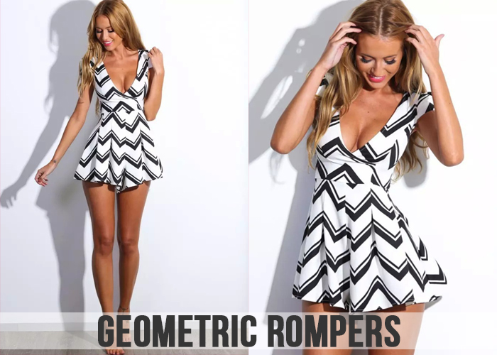 Geometric Rompers For Women