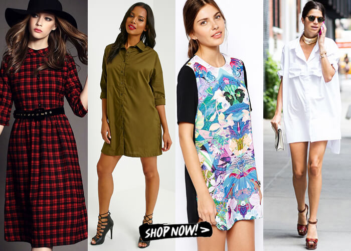 shirt style dresses for women