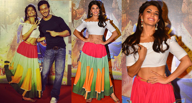 Flying Jatt Jacqueline Fernandez white Crop Top