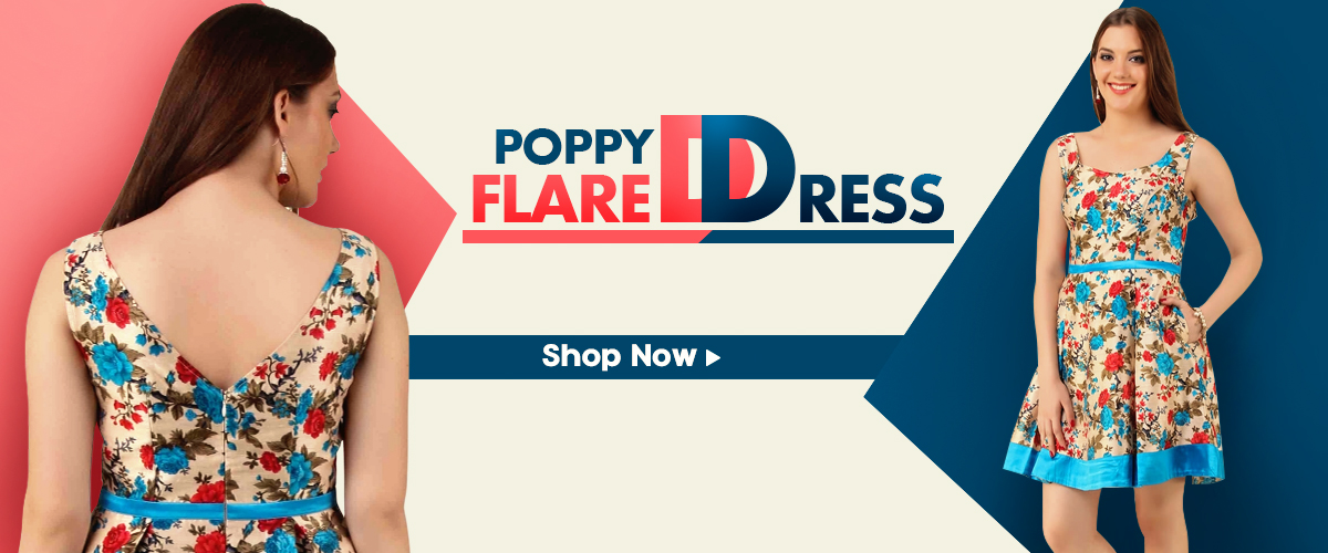 POPPY FLARED DRESS