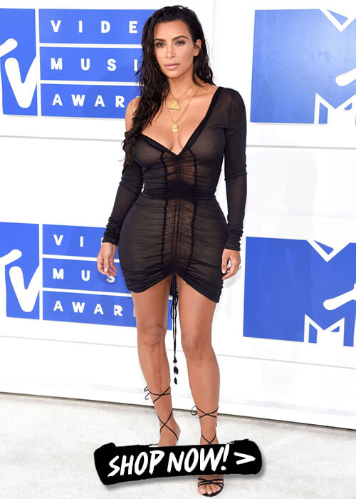 Kim Kardashian went all black
