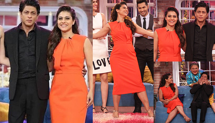 Kajol In elegant red Dress in Kapil Sharma Show