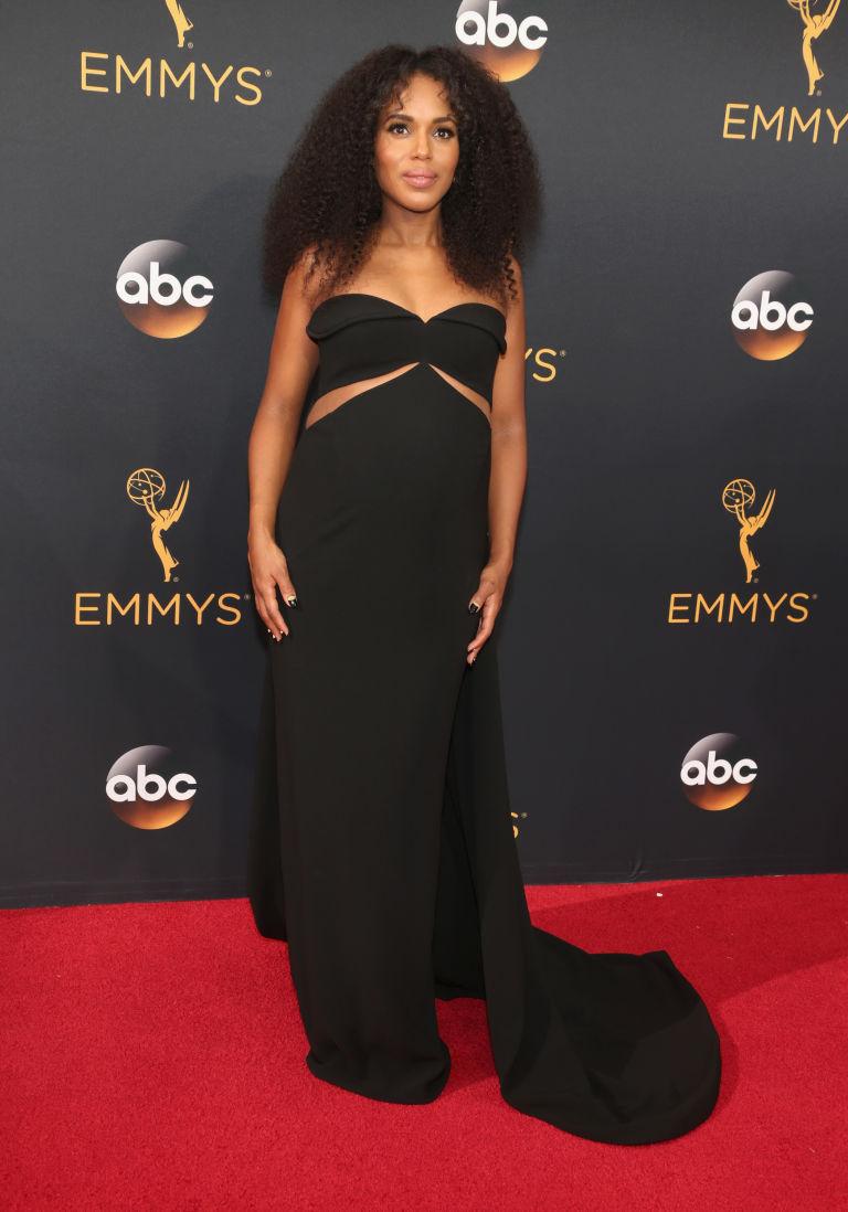 Kerry Washington in black Plus size women dresses