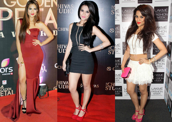 Sana Saeed Bigg Boss season 10 contestant in sexy evening cocktail dresses for women