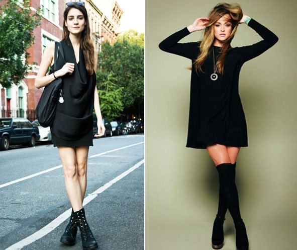 party little black dresses for women with boots