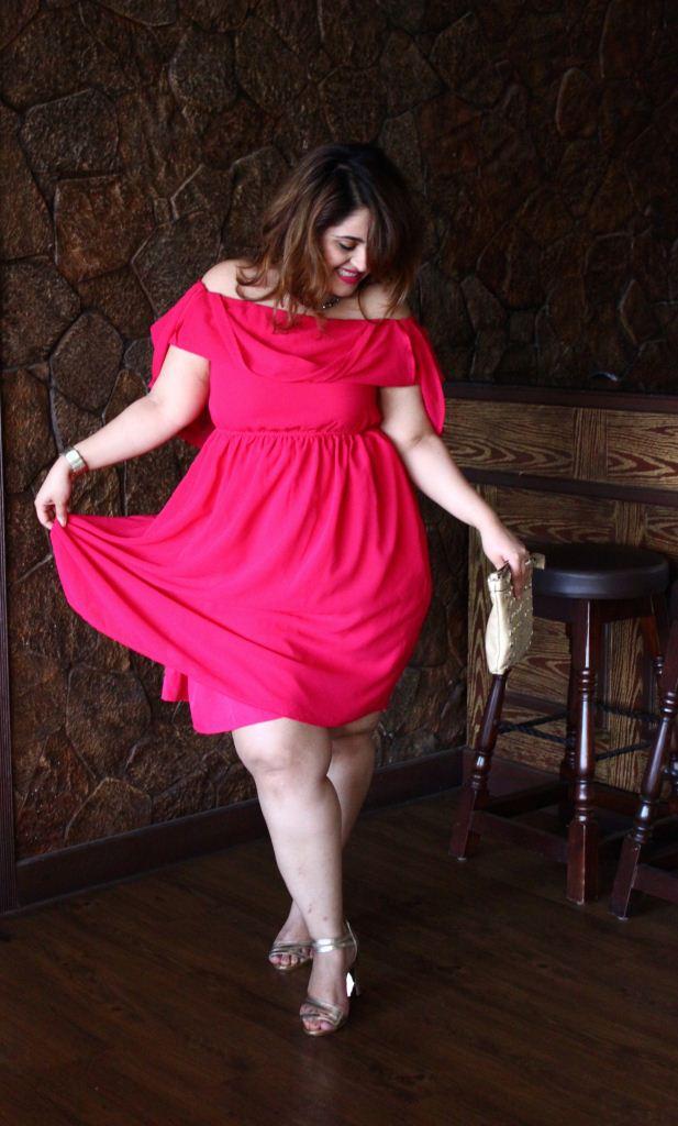 Fit flare dresses knee length