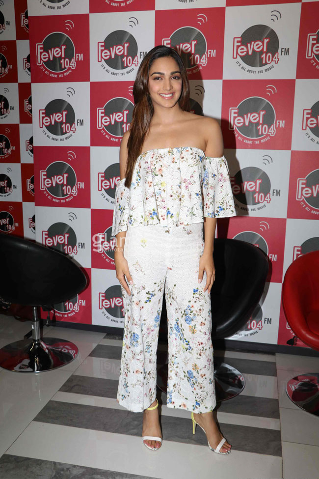 Kiara Advani in floral printed jumpsuit in MS Dhoni Promotion