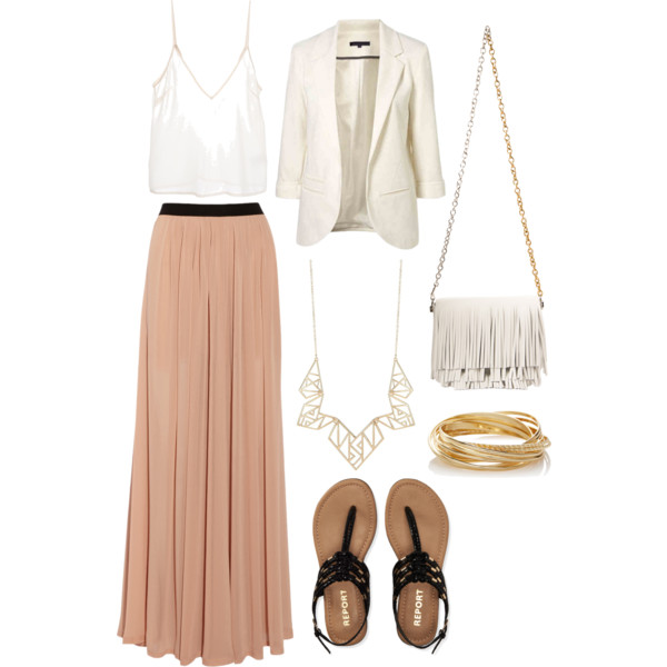 Long maxi skirts for women with accessories