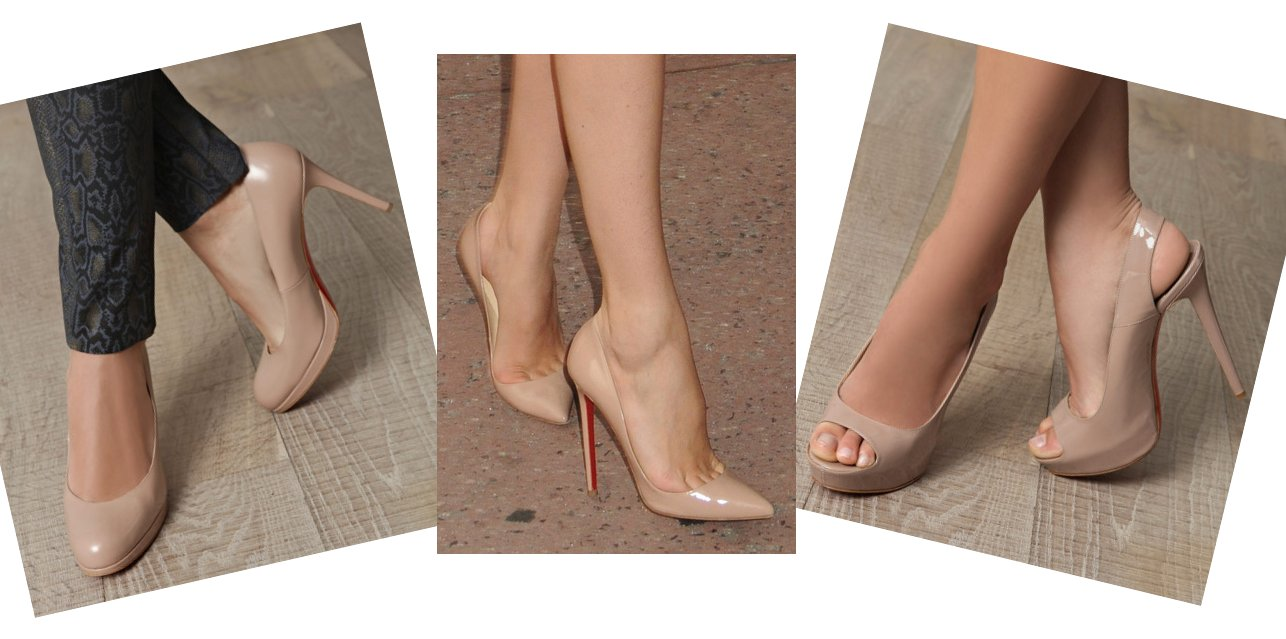 Nude colors heels for women dresses
