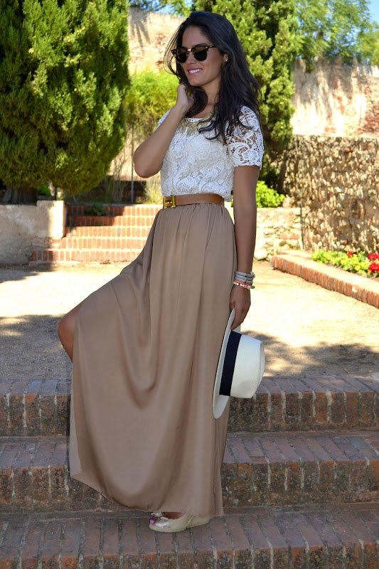 buy maxi skirts for women with lace Top