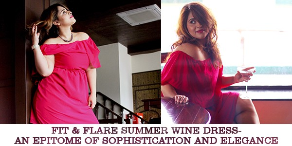 Fit & Flare Summer Wine Dress- An Epitome of Sophistication and Elegance