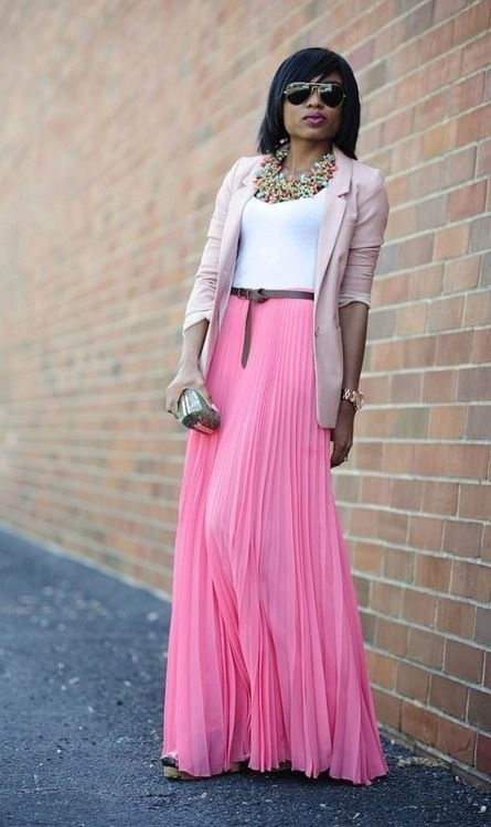 maxi skirts for women with blazer