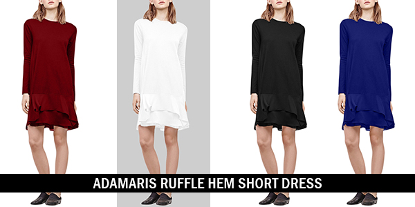Adamaris Ruffle Hem Short Dress