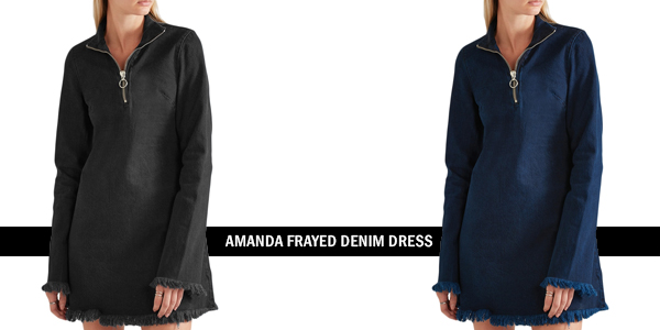 Amanda Frayed Denim Dress