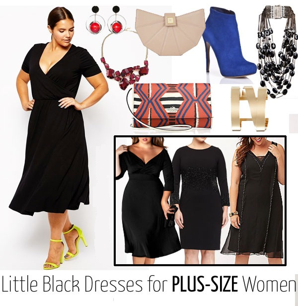 LBD for plus size with accessories