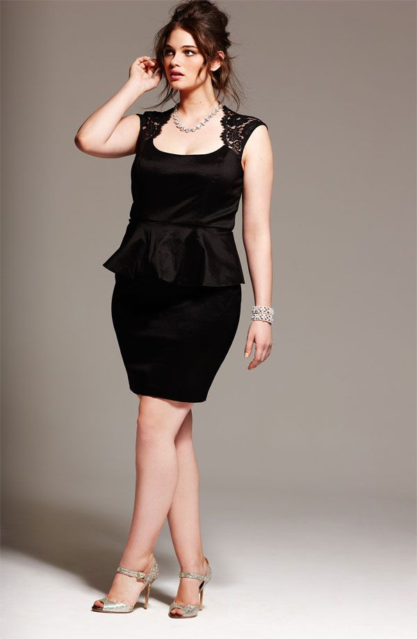 LBD for plus size with fabric as chiffon, georgette